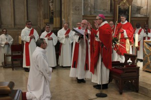 Homélie pour l'ordination diaconale de Pierre Descamps